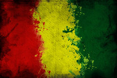 Guinea flag. Flag of Guinea, image is overlaying a grungy texture Stock Image