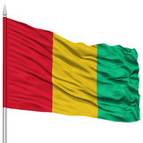 Guinea Flag on Flagpole Stock Photo
