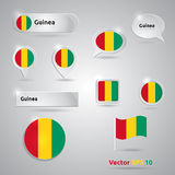 Guinea icon set of flags Stock Images