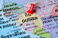 Guinea map Stock Image