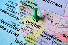 Guinea map Royalty Free Stock Image