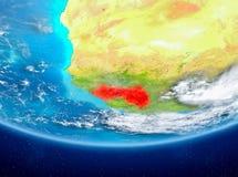 Guinea på jordklotet från utrymme Fotografering för Bildbyråer