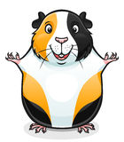 Guinea pig. Vector illustration of cute cartoon guinea pig Stock Image
