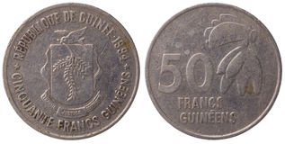 50 Guinean franc coin, 1994, face Stock Images