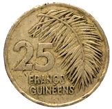 25 Guinean franc coin, 1987, reverse Royalty Free Stock Images