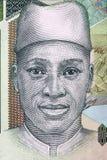 Guineansk man, en stående från pengar royaltyfria foton