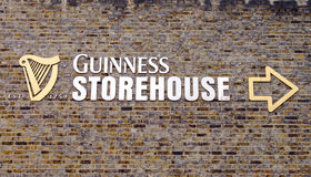 Guiness-Pakhuisteken Dublin Royalty-vrije Stock Foto's