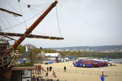 Guiness World Record set on Varna beach Bulgaria Stock Photography