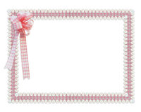 Guingão e beira cor-de-rosa das fitas das margaridas Imagens de Stock