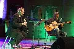 Guinga e Mirabassi no concerto Foto de Stock