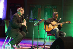 Guinga et Mirabassi de concert Photo stock
