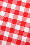 Guingão vermelho de matéria têxtil Fotos de Stock Royalty Free
