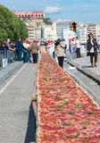 Guinnes World record pizza long 2 km Stock Photography