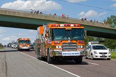 Guinness światowego rekordu Ciężarowy konwój Fotografia Royalty Free