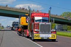 Guinness światowego rekordu Ciężarowy konwój Zdjęcie Stock