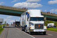 Guinness światowego rekordu Ciężarowy konwój Fotografia Stock