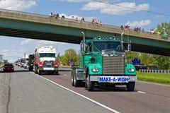 Guinness światowego rekordu Ciężarowy konwój Zdjęcia Royalty Free