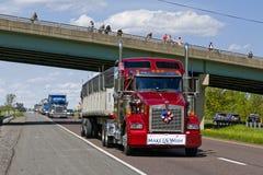 Guinness światowego rekordu Ciężarowy konwój Obrazy Stock