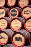 Guinness barrels in Storehouse Royalty Free Stock Image