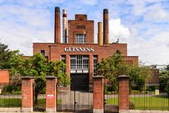 Guinness Brewery. DUBLIN, IRELAND - JULY 12, 2016: Guinness Brewery. Guinness is an Irish dry stout produced by Diageo originated in the brewery of Arthur Royalty Free Stock Images