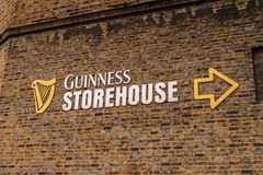 Guinness Brewery, Ireland. DUBLIN, IRELAND - JULY 12, 2016: Guinness Brewery. Guinness is an Irish dry stout produced by Diageo originated in the brewery of Royalty Free Stock Photography