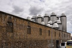 Guinness Brewery, Ireland. DUBLIN, IRELAND - JULY 12, 2016: Guinness Brewery. Guinness is an Irish dry stout produced by Diageo originated in the brewery of Royalty Free Stock Photo