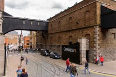 Guinness Brewery, Ireland. DUBLIN, IRELAND - JULY 12, 2016: Guinness Brewery. Guinness is an Irish dry stout produced by Diageo originated in the brewery of Royalty Free Stock Image