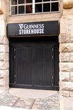 Guinness Brewery, Ireland. DUBLIN, IRELAND - JULY 12, 2016: Guinness store house sign. Guinness is an Irish dry stout produced by Diageo originated in the Royalty Free Stock Image