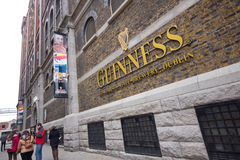 Guinness Dublin. DUBLIN, IRELAND - APR 1: The Guinness Storehouse Brewery at St. James Gate, Dublin Ireland on April 1, 2013. Guinness brewery was founded in stock photos