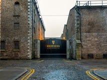 Guinness Gate. Dublin, Ireland-17 January 2017. Guinness Brewery Gate in Dublin stock photos