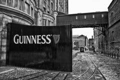 Guinness Gates B&W Immagini Stock Libere da Diritti