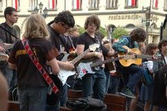 guinness gitarrer registrerad värld arkivbild