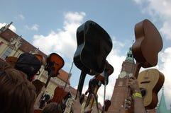 guinness gitarrer registrerad värld royaltyfri bild