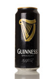 Guinness. HARTLEPOOL, ENGLAND - DECEMBER 06, 2014: Guinness can on white background. Guinness is a popular Irish dry stout originated in the brewery of Arthur stock photos