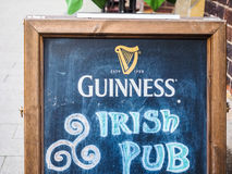 Guinness Irish Pub sign in Hamburg hdr Stock Photos