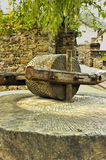 Guinness largest collection of stone mill village house --- Shannan Village water pit Stock Images