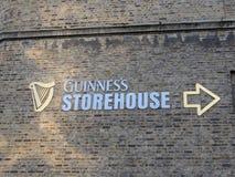 Guinness magasin Arkivfoto