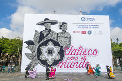 Guinness record for the world's largest mosaic made with hats Royalty Free Stock Photography