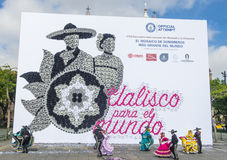Guinness record for the world's largest mosaic made with hats Royalty Free Stock Photos