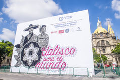 Guinness record for the world`s largest mosaic made with hats Stock Image