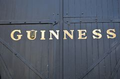 The guinness store house gates  dublin. Outside view of the guinness store house brewery near  factory dublin republic of ireland Royalty Free Stock Photo