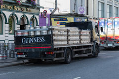 Guinness truck in Dublin, Irealnd Royalty Free Stock Photos