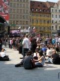 Guinness-Weltrekord-Gitarre 2011: Hendrix in Wroc lizenzfreie stockbilder