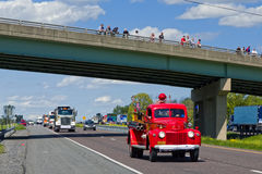 Guinness World Record Truck Convoy Royalty Free Stock Photos