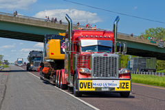 Guinness World Record Truck Convoy Stock Photo