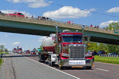 Guinness World Record Truck Convoy Stock Photography