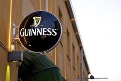 Guinness-Zeichen Lizenzfreies Stockfoto