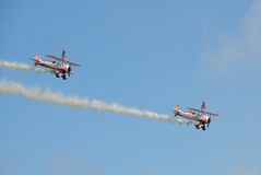 Guinot Wing Walking team Royalty Free Stock Photo