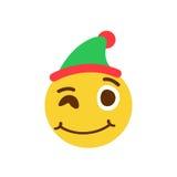 Guiño de smiley en un casquillo Foto de archivo libre de regalías