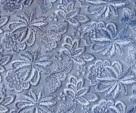 Guipura azul - textura Imagens de Stock